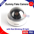 Hot Emulational Fake Decoy Dummy Security CCTV dome Camera with Red Blinking IR light