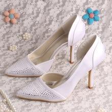 Wedopus MW1002 Custom Handmade Thin Heels White Shoes for Women Wedding Pointed Toe
