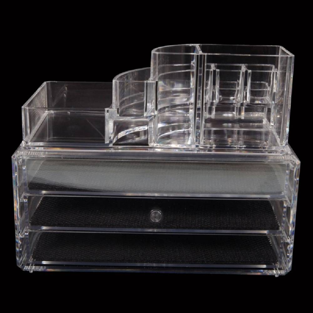 Clear <font><b>Acrylic</b></font> Makeup Cosmetic <font><b>Organizer</b></font> <font><b>Drawer</b></font> Case Storage Insert Holder Box image