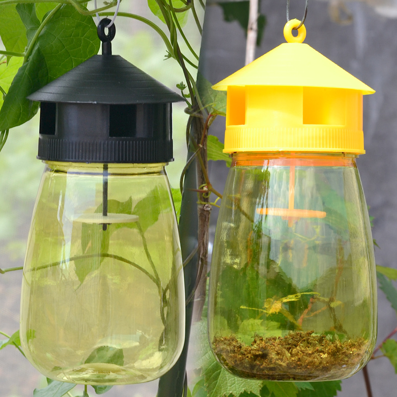 US $8 98 25% OFF|Portable Plastic Fruit Fly Trap Killer With Attractant  Liquid Fly Catcher Outdoor Hanging Cup Flies Pest Control Trap tools-in  Traps