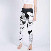new printing Beauty love Quick drying Ventilation Elastic force pants workout leggings women shein joggers fitness legging