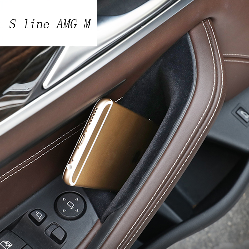Car styling For BMW 5 series G30 G38 2018 Plastic Car Door Storage Box Phone Tray cover Interior Auto Accessories image