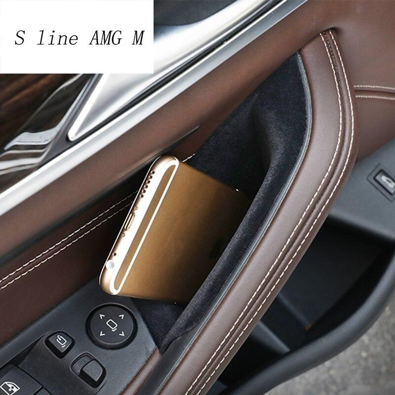 Styling de carro Para BMW série 5 G30 G38 2018 Plástico tampa da Bandeja Interior Auto Acessórios do Telefone Caixa de Armazenamento Da Porta de Carro