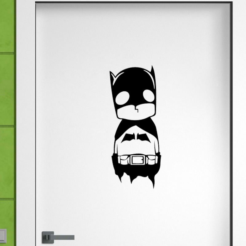 Cute Baby Batman Door Sticker Funny Baby Room With Vinyl Decals 2WS0085