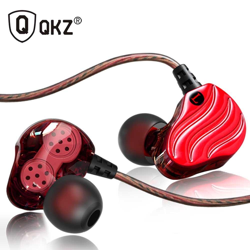 Newest QKZ KD4 Dual Drivers HIFI In-ear Earphone Earbuds Universial Earhook Headset for Sport Running Xiaomi Earpods Airpods