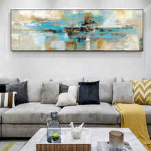Abstract Turquoise Color Wall Art Canvas Painting Modern Graffiti Pop Decorative Picture For Living Bed Room Decor
