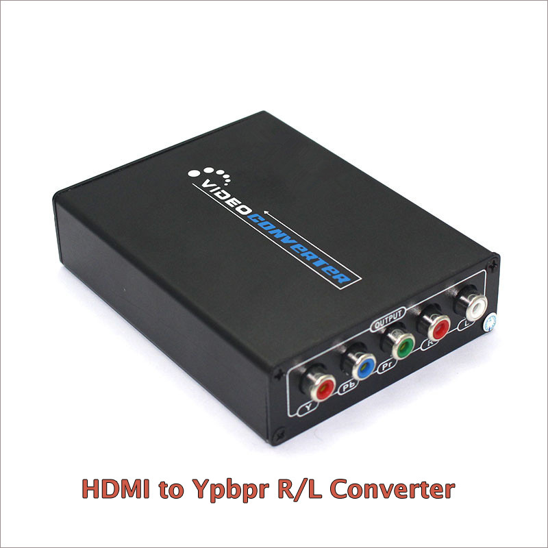 New 1080P HD HDMI To Component YPbPr video and R L audio Adapter Converter HDMI to