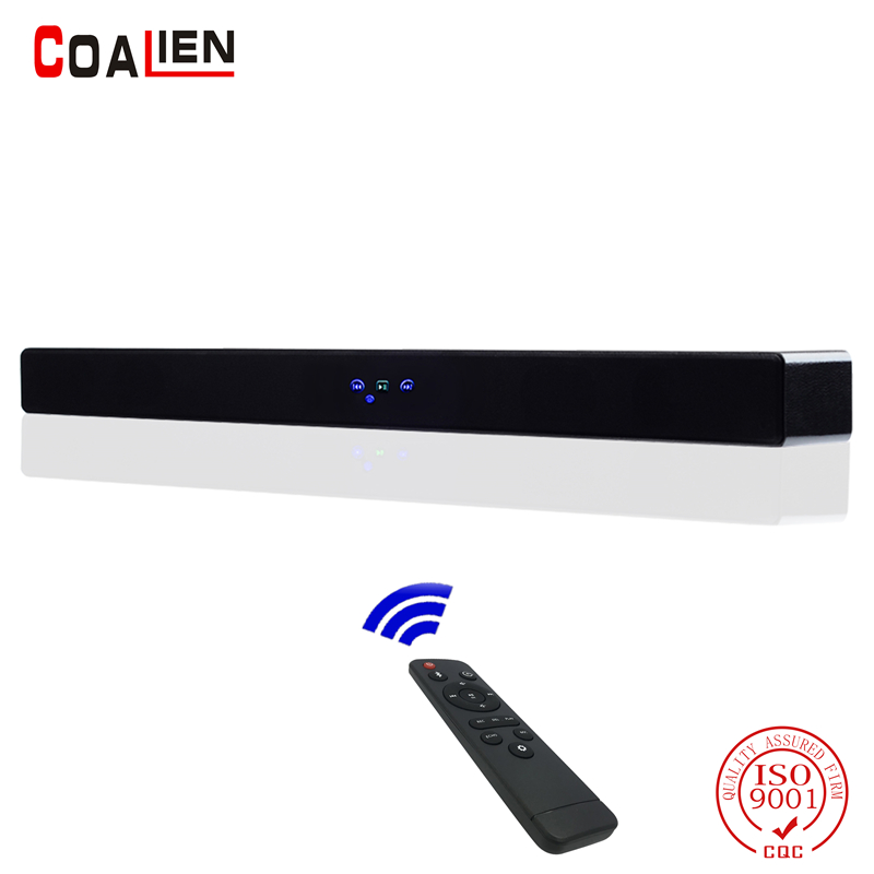 COALIEN Wireless Bluetooth TV Soundbar Speaker Subwoofer Surround Stereo System Sound for Home Theater Hang Wall Loudspeaker 20w portable wooden high power bluetooth speaker dancing loudspeaker wireless stereo super bass boombox radio receiver subwoofer