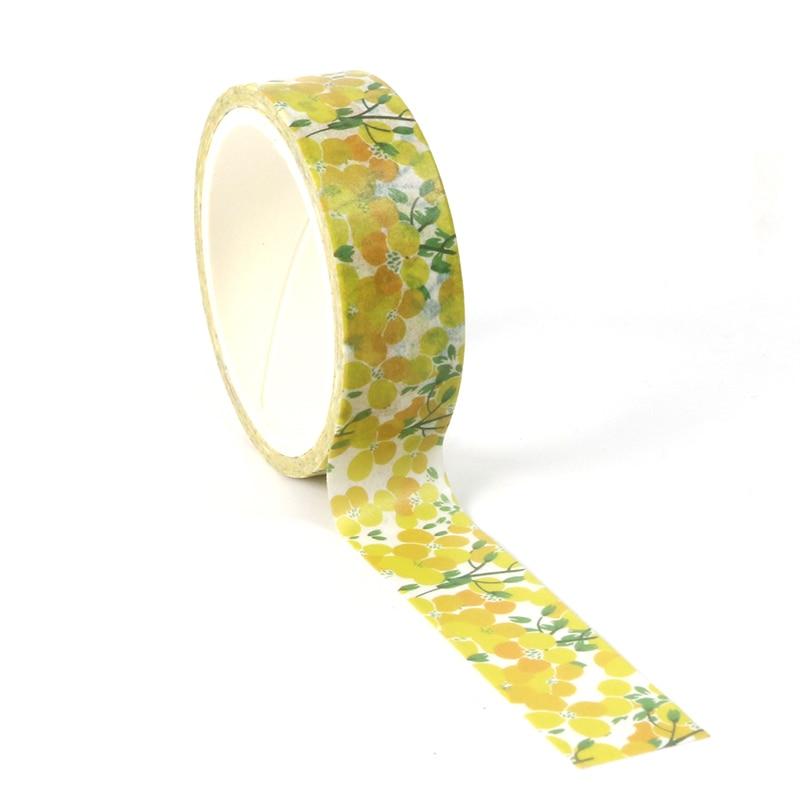 1pcs Cute Beautiful Plant Yellow Leaves Decorative Washi Tape Paper DIY Scrapbooking Masking Tape School Office Supply