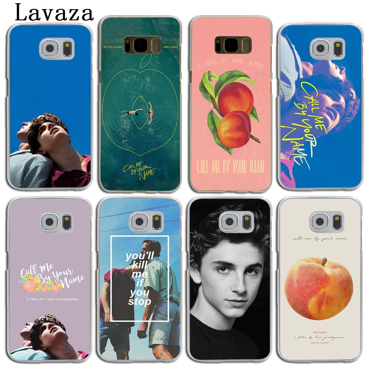 Lavaza Call Me на Ваше имя жесткий кожи телефон чехла для samsung Galaxy S7 S6 край S8 S9 плюс s3 S4 S5 и мини S9 крышка
