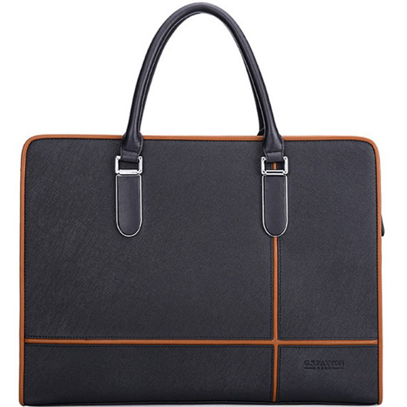 купить real leather men bag briefcase business bag handbag men genuine leather bag man computer laptop bags for men leather briefcase по цене 5433 рублей