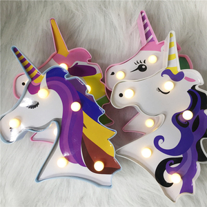 Image 3 - Factroy Price Night Light Unicorn Lamp LED Unicornio Head Kids Night Light 3D Painted Lamp For Xmas Gift Party Table Decoration