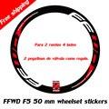 FFWD наклейки/наклейки дорожного велосипеда/bycicle 50 нож подходит для глубины 50 мм обод для двух колес