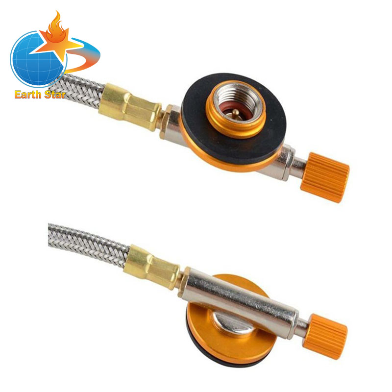 Outdoor Gas camping stove connection Regulating valve with High temperature resistance flexible hose earth star outdoor camping stove regulator valve with elbow and nozzle 0 3mm length 45cm