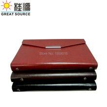 portfolio a5 leather ring binder notebook agenda organizer planner
