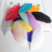 Розничная, 50 шт., 4-8 см, цветные гусиные перья, отделка, свадебное платье, украшения, рукоделие, перья для аксессуаров