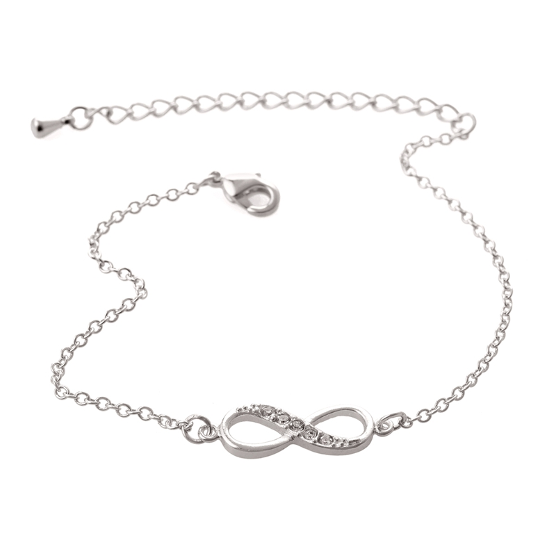 Jisensp New Fashion Cinta Infinity Gelang untuk Wanita Pribadi - Perhiasan fashion - Foto 3