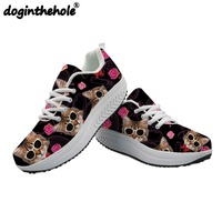 FORUDESIGNS Women sneakers Cool Cat Head Printing Women Casual Shoes Platform Tenis Feminino Wedge Sneakers Trainers Women Mesh