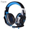 Wired Gaming Headset Jogo fones de ouvido Do Computador Fone de ouvido Graves Profundos com microfone fones de ouvido do diodo emissor de luz