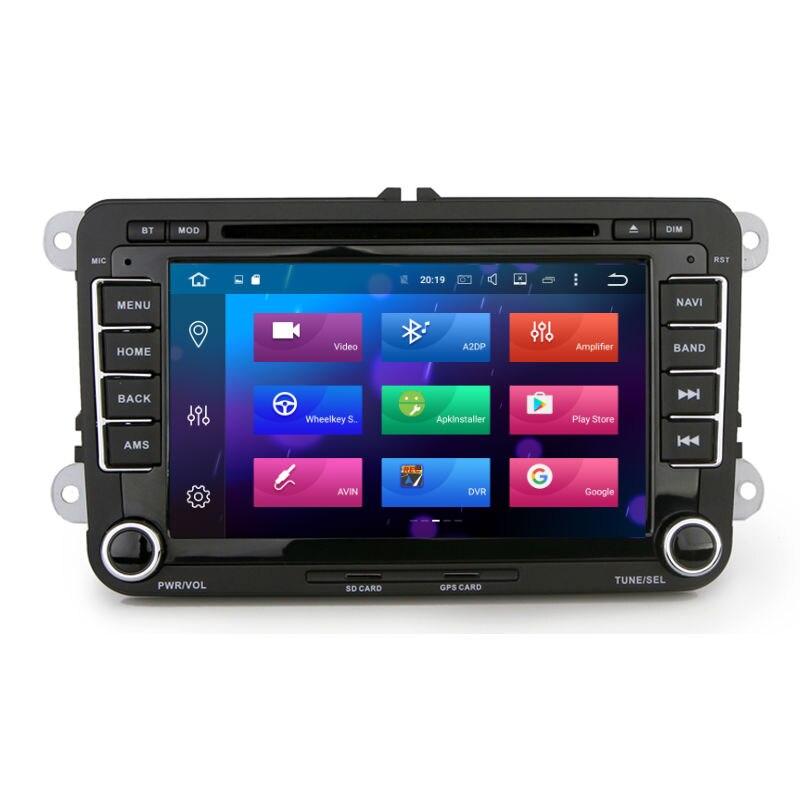Aoluoya RAM 4GB 8-Core Android 8.0 CAR Radio DVD GPS Player For VW - Ավտոմեքենաների էլեկտրոնիկա - Լուսանկար 2
