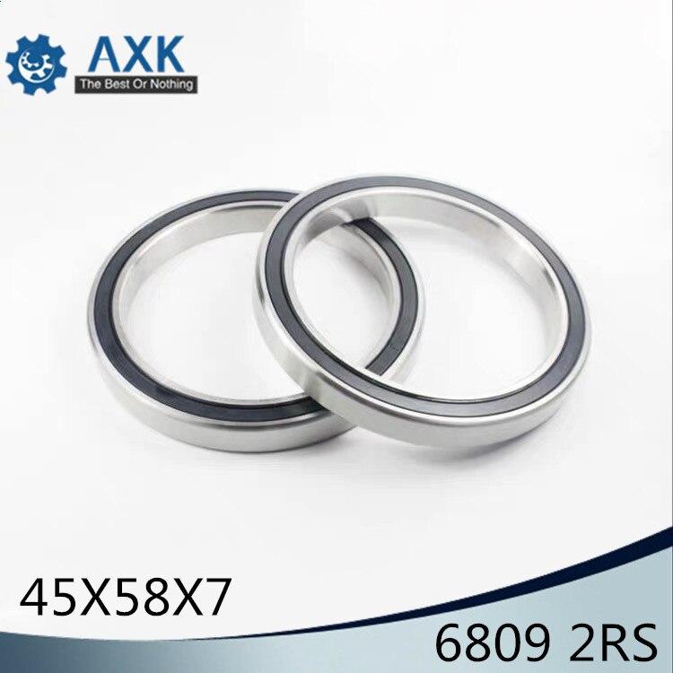 QTY 1 45x58x7 mm 6809-2RS HYBRID CERAMIC Si3N4 Ball Bearing Bearings 6809RS