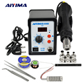 AIYIMA 858D Soldeerstation Soldeer Solderen BGA Rework Station 110V 220V 700W Hot air soldeerstation LCD digitale station