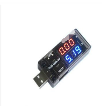 2PCS USB current and voltage detector tester USB meter voltage meter tester double table electronic diy kit lm317 adjustable dc power supply voltage diy voltage meter electronic training kit parts