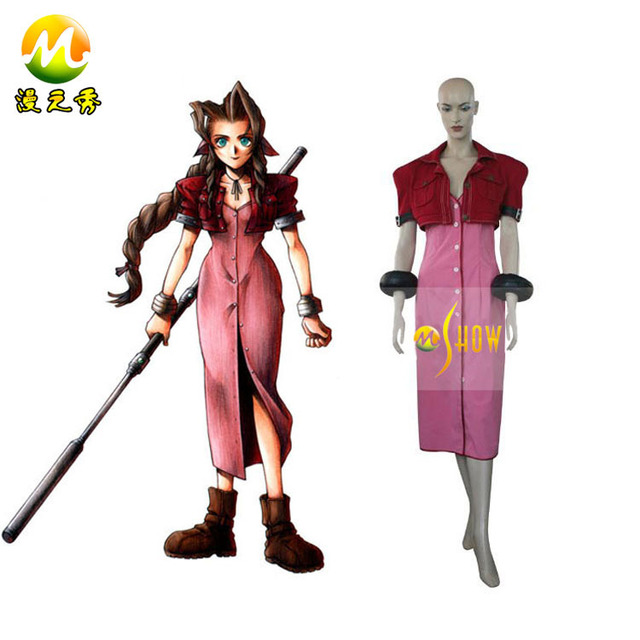 wholesale anime cosplay final fantasy vii 7 aerith cosplay costumes
