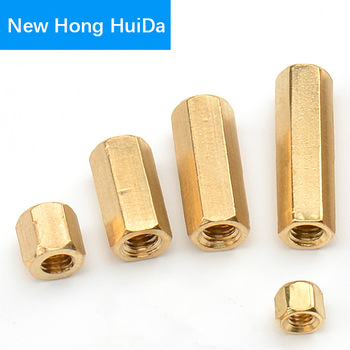цена на M2 M2.5 M3 M4 M5 Hex Brass Male Female Standoff Board Pillar Mount Hexagon Thread PCB Motherboard Spacer Bolt Screw Long Nut