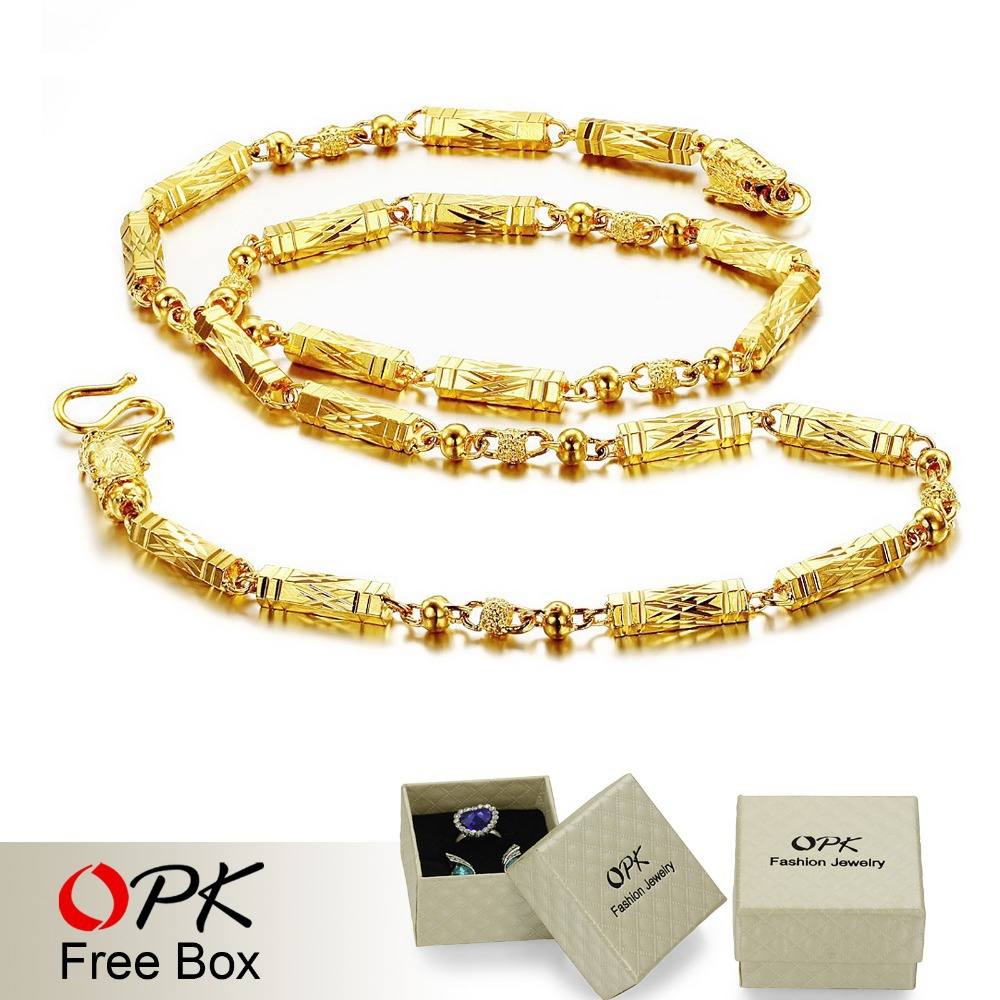 OPK JEWELLERY top quality Gold Color Necklace chain cool design ...