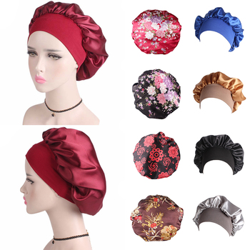 Satin Silk Solid Color Womens Winter summer Beret Female stain Woman Hats Caps Black White Gray Pink