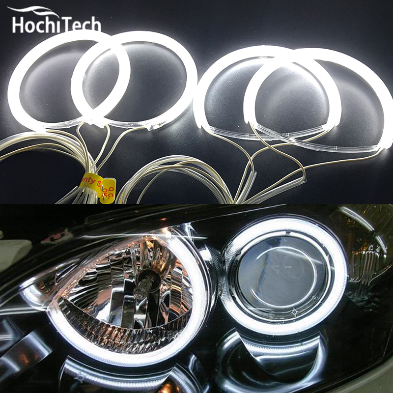 HochiTech ccfl angel eyes kit white 6000k ccfl halo rings headlight for Mazda 3 mazda3 2002 2003 2004 2005 2006 2007 for uaz patriot ccfl angel eyes rings kit non projector halo rings car eyes free shipping