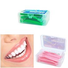20 шт. l-образная межзубная щетка Зубная нить набор флоссов для зубов Чистка зубочистка инструмент QS888