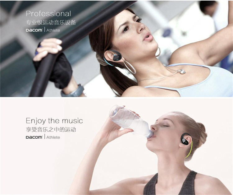 Dacom NFC Cordless Ear Hook Sport Bluetooth 4.1 earpiece Sweatproof Wireless Hifi Bass Headphones With Microphone (9)