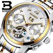 2017 New BINGER men's watch luxury brand Tourbillon sapphire luminous multiple functions Mechanical Wristwatches B8601-8