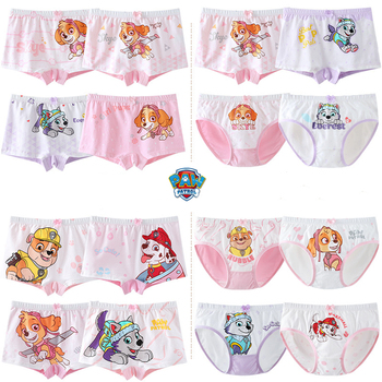 1pcs Original Paw patrol Figure Toy Boys Girls Underwear Skye Everest Marshall Rubble Cartoon Panties Paw patrol Birthday Gift
