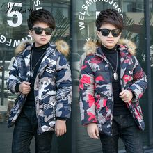 Weixu Toddler Boy Winter tops Coat Baby Kids Camouflage Outerwear Jacket Parkas Coats Children Hooded Fur Collar Thick Warm Coat недорого