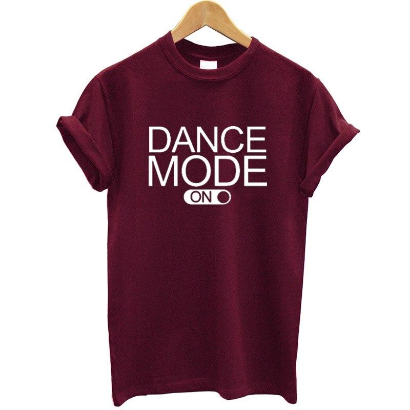 Dance Mode Letter Printed Women T Shirt Cotton Short Sleeve O-neck Summer Tops Streetwear Casual Tshirt Women Hipster Clothes