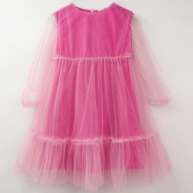 Kids Soft Gelaagde Tule Jurk voor Meisjes Peuter Lange Mouw Chiffon Baljurk Kinderen Roze Witte Jurken Tule Overrok Jurk