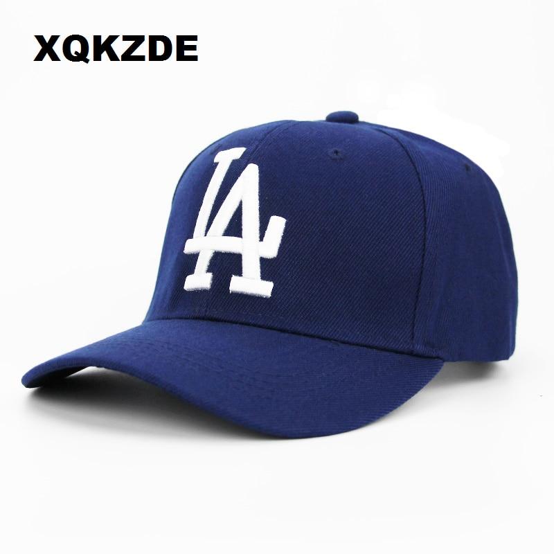 XQKZDE Nuova Lettera LA Berretto Da Baseball Del Ricamo di Estate Regolabile  Caps Cappello Papà Dodgers 3e885db54282