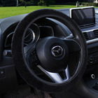 New Car Steering Wheel Cover Leather Size 38cm For VW Skoda Chevrolet Ford Nissan etc. 95% Cars Free Shipping