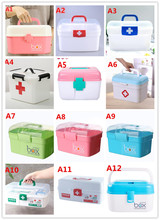 Plastic household medical box family first aid kit B647 multilayer drug storage box child child Kit