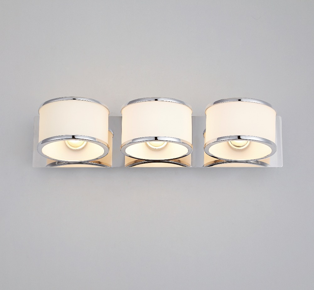 Modern White Gl Shinny Chrome Art Deco Sconces Bathroom Bedroom Wall Light Fixture Ip44 3 Lights Waterproof Lamp In Lamps From Lighting On