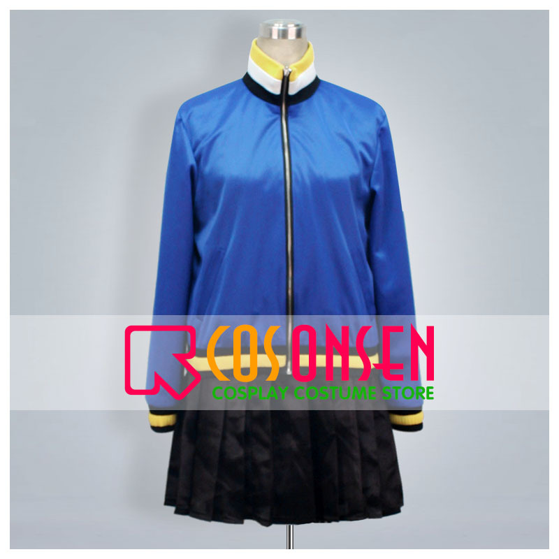 COSPLAYONSEN Zaregoto Series Tomo Kunagisa Cosplay Costume Blue Black Color Any Size