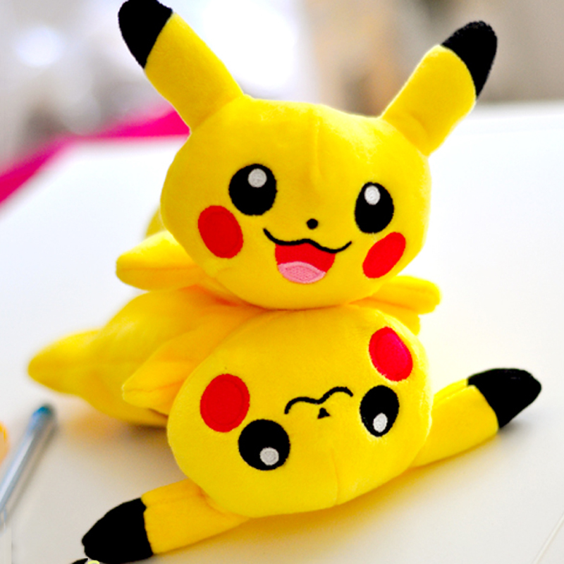 Costume Props Anime Pokemon Pikachu Pencil Case Poke Ball Cosplay School Writing Case Children Plush Pencil-case