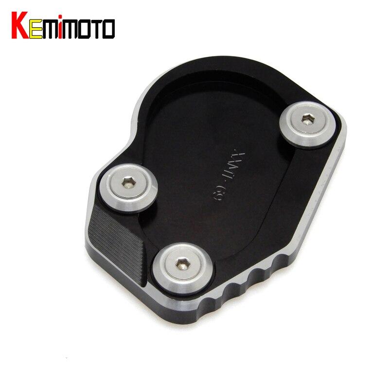 KEMiMOTO R NINE T CNC Large Kickstand Sidestand Pad Extension Plate for BMW R NINE T 2014 2015 2016 after market