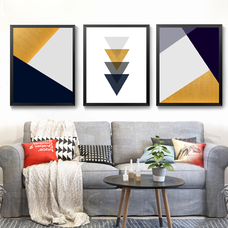 Modern Geometric Abstract Art Print For Living Room Printable Canvas Painting Home Decor