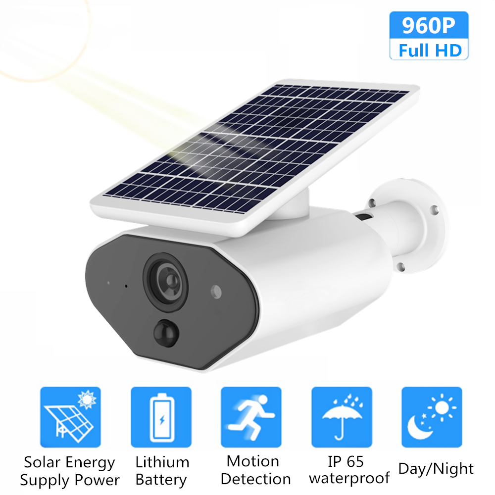 ZILNK Outdoor Security Camera 1080P HD Wire Free Solar Powered Battery WI FI IP Camera CCTV Surveillance Waterproof PIR TF Card-in Surveillance Cameras from Security & Protection