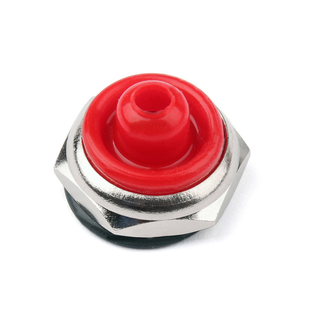 Areyourshop Auto Car Toggle Switch Boot 12mm Rubber Waterproof Cover Cap T700-6 Red Black 1/4PCS Wholesale Switched