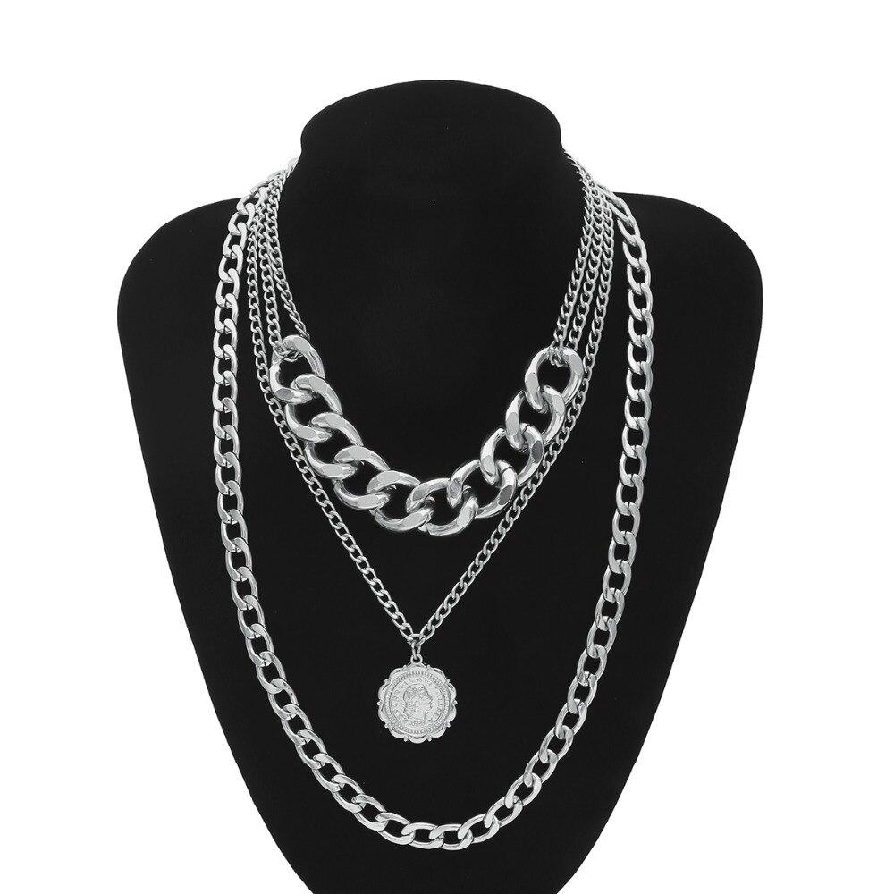 3c520eff6827 Ingemark Punk Miami cubano gargantilla collar exagerado cadena Europea y  Estados Unidos reina de la moda colgante collar de la joyería de las  mujeres en ...